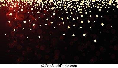 stars., sfondo rosso, festivo