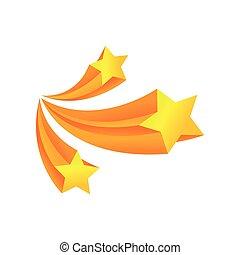 stars., tre, illustrazione, fondo., vettore, bianco, saluto