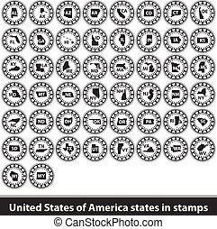stati, francobolli, unito, america