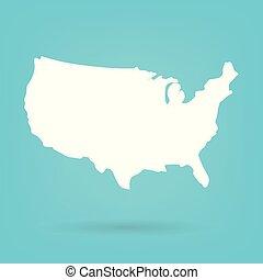 stati, mappa, astratto, unito, bianco