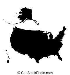 stati, mappa, unito, america