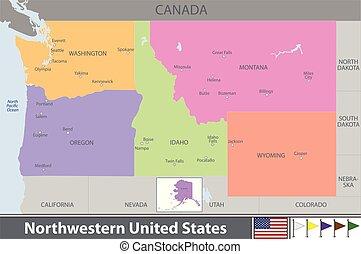 stati, nordoccidentale, unito