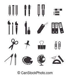 stationery, icone