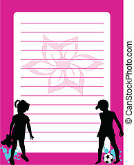 stationery, silhouette, -, bambini