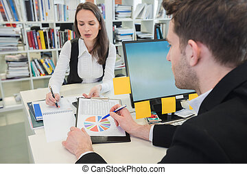 statistica, affari persone, studiare