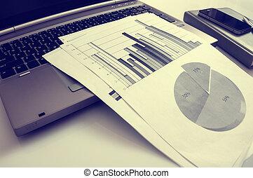 statistica, marketing, concept., commerciale, pubblicità, digitale, migliorare, promozione