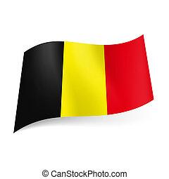 stato, belgium., bandiera