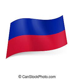 stato, haiti., bandiera