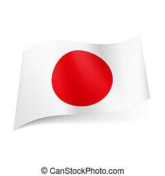 stato, japan., bandiera