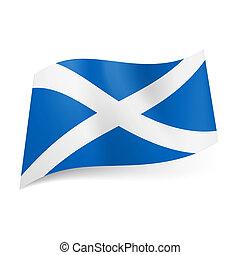 stato, scotland., bandiera
