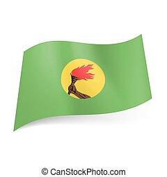 stato, zaire., bandiera