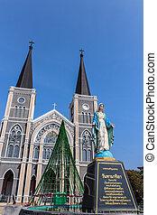 statua, cattolico, mary vergine