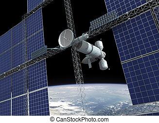 stazione spaziale, orbitare