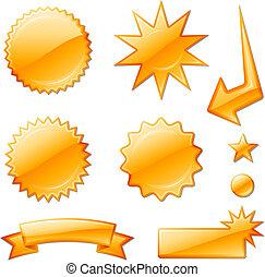 stella, arancia, progetta, scoppio