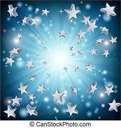 stella blu, esplosione, fondo