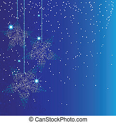 stella blu, ornamenti natale
