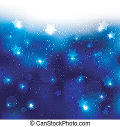 stella blu, sfavillante, fondo, celebrazione