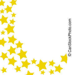 stella, bordo, oro, vincente