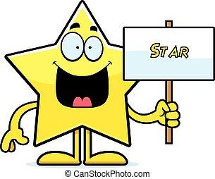 stella, cartone animato, segno