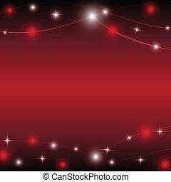 stella, luce, illustrazione, vettore, fondo, rosso