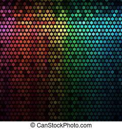stella, luci, astratto, discoteca, fondo., multicolor, vector., pixel, mosaico