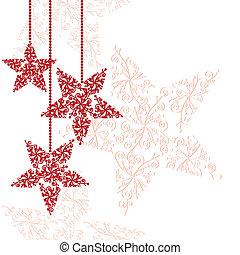 stella, ornamenti natale, rosso