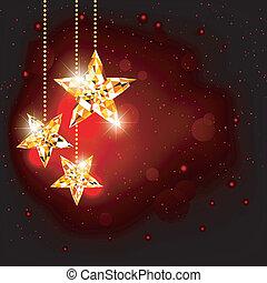 stella, poligono, natale, fondo