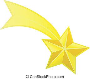 stella, vettore, riprese