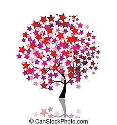 stellato, albero, fantasia