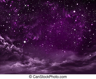 stellato, astratto, cielo, fondo