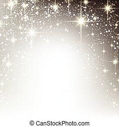 stellato, natale, inverno, fondo.
