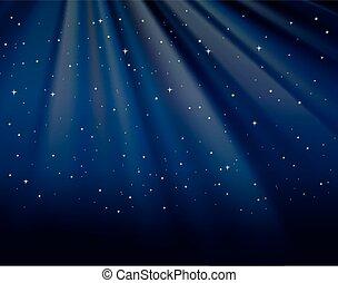 stelle, cielo, fondo, sagoma