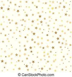 stelle, dorato, sfondo bianco