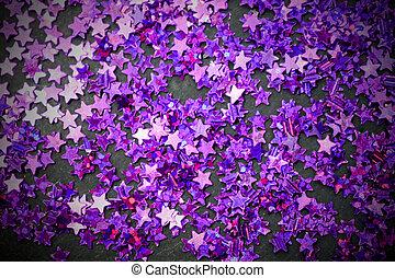 stelle, spazio, viola, sfondo nero, copia, brillare