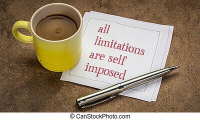 stesso, inspirational, tutto, nota, limitazioni, imposto