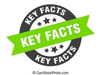 sticker., chiave, segno., rotondo, nastro, isolato, fatti, etichetta