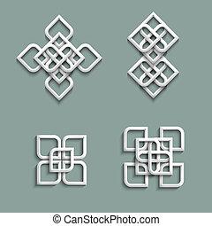 stile arabo, ornamenti, 3d