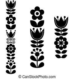 stile, arte, finlandese, modello, ispirare, -, lungo, scandinavo, nordico, popolo