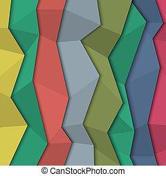 stile, carta colorata, fondo, -, origami, 3d