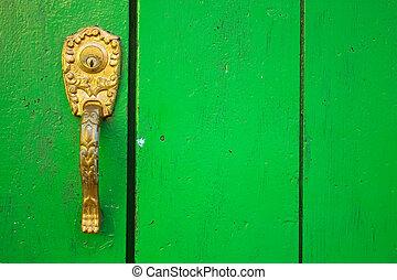 stile, coloniale, door., spagnolo