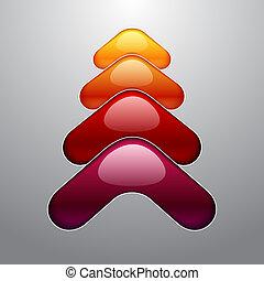 stile, colorito, albero, aqua, 3d, natale, lucente