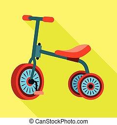 stile, colorito, icona, triciclo, appartamento