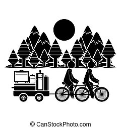 stile di vita, viaggiatore, disegno