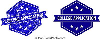 stile, esagonale, versione, domanda, sigillo, gomma, pulito, università