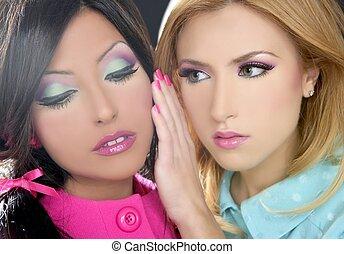 stile, fahion, barbie, trucco, bambola, 1980s, donne