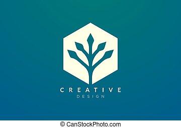 stile, fatto, forma, disegno, pianta, moderno, concetto, geometrico, minimalista, esagono
