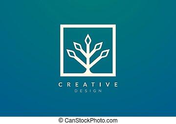 stile, fatto, forma, rettangolo, pianta, moderno, concetto, geometrico, minimalista, disegno