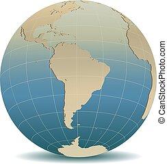 stile, globale, retro, mondo, america, sud