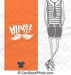 stile, hipster, retro, fondo