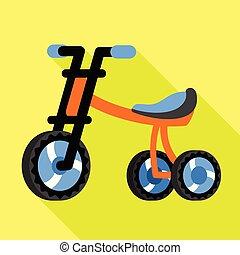stile, icona, triciclo, capretto, appartamento